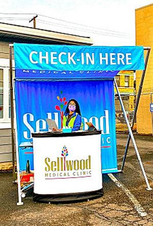 Sellwood Medical Clinic is all ready for you to drive through their parking lot for your flu shot � but do call to make an appointment first.