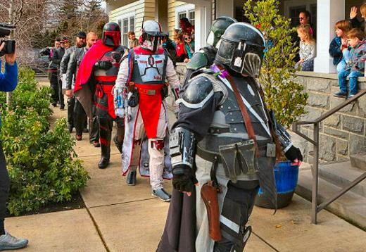 Star Wars, Mandalorians, constumes, Christmas presents, grieving kids, Dougy Center, Southeast Portland, Oregon