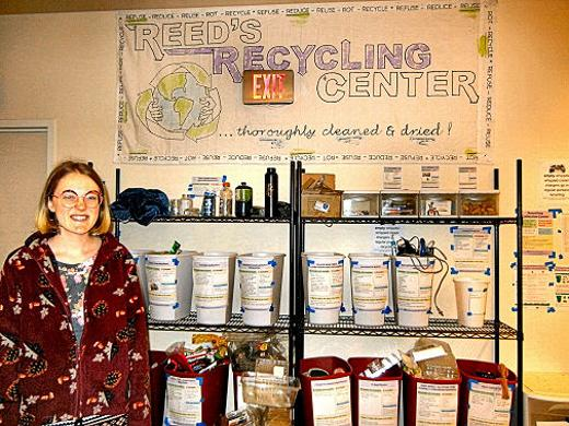 Reed College, recycling, Hayden Henderson, recycling rules, Eastmoreland, Southeast Portland, Oregon