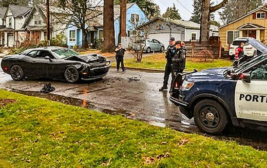 Rober, three pursuits, police crash, Woodstock, Southeast Portland, Oregon