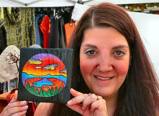 Woodstock Bazaar, fundraiser, local art, Southeast Portland, Oregon